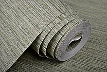 Faux Weave Grasscloth Textured Plain Tapete Home
