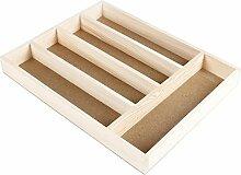Faveco Besteckkasten, Holz, Braun, 28x 4x