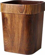 FAVOMOTO Holz Mülleimer Bambus Mülleimer Vintage