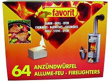 favorit 1249 Anzündwürfel für Grill, Kamin und