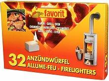 favorit 1250 Anzündwürfel für Grill, Kamin und