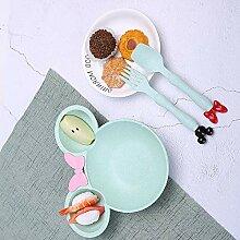 Favson Weizenfaser-Mäuseschüssel, Kinderbesteck