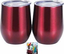 Favsonhome Doppel-Isoliertes Glas ohne Stiel,