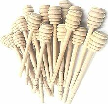 Favsonhome Honigspender aus Holz, tragbar, 15,2