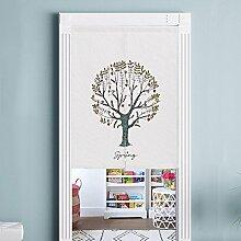 Fawn Tuch Baumwolle Leinen Tür Vorhänge HD Digitaldruck Studie Partition Veranda Halbvorhang Für Wohnzimmer Schlafzimmer hause , color 3 , 80x90cm