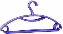 Fayear 10 x Multifunktionale Plastik Kleidung Bügel Kleidungsstück Mantel Anzug Kleid, Rock - Bh Adult Size Kleiderbügel (lila)