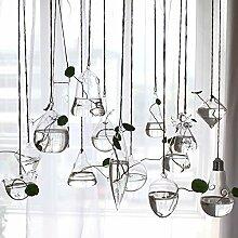Fayear Hanging Klare Glasblume Vase Sichern