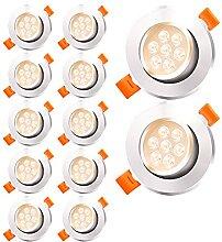 Faziango 12 Stück LED Einbaustrahler 7W LED