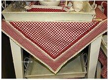FB01R --- Rot ---- Tischdecke ---- Serie Flower Basket -- Clayre & Eef ---- 1...