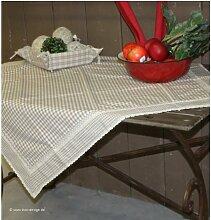 FB15N --- Natur ---- Tischdecke ---- Serie Flower Basket -- Clayre & Eef ----...