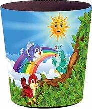 FBBM Papierkorb Kinder, 10L Bunte Papierkörbe