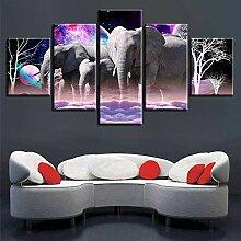 Fbhfbh 3D Leinwand Gemälde, Tier Kunstdrucke,