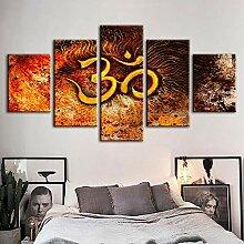 Fbhfbh 3D Leinwand Malerei, Gedruckt Retro Poster