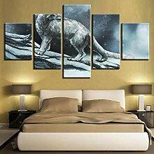 Fbhfbh 3D Leinwand Malerei, Schwarz-Weiß-Plakat