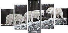 Fbhfbh Fototapete 5 Leinwand White Wolf