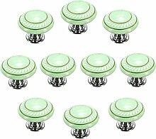 FBSHOP(TM) 10 Stück Grün Retro Stil Runde