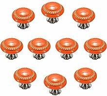 FBSHOP(TM) 10 Stück Orange Retro Stil Runde