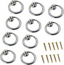 FBSHOP(TM) 10 Stück Silber Ring-Form