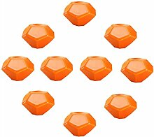 FBSHOP(TM) 10PCS Orange Turtle Shell-shaped Keramik Türknauf Griff Pull Baby-Kind-Möbel Schubladengriffe Schrank Schubladengriffe Türgriffe MöbelKnopf mit Schrauben