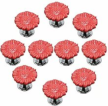 FBSHOP(TM) 10pcs Rot Sonnenblumen form Keramik