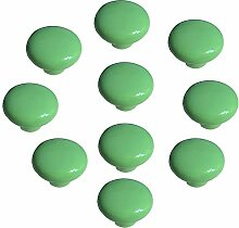 FBSHOP(TM) 10x33mm Grün Porzellan Möbelknöpfe