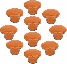 FBSHOP(TM) 10x33mm Orange Porzellan Möbelknöpfe
