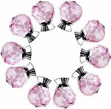 FBSHOP(TM) 10xNeu 40mm Rosa Kristallglas