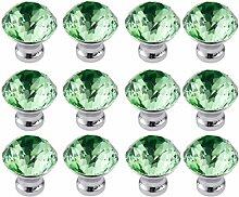 FBSHOP(TM) 12 Stück 30mm Grün Möbelknöpfe
