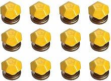 FBSHOP(TM) 12PCS Gelb Diamant-Form