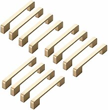 FBSHOP(TM) 12PCS Golden Moderne Schrank Türknopf