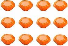 FBSHOP(TM) 12PCS Orange Diamant-Form