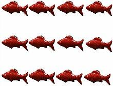 FBSHOP(TM) 12PCS Rot Nette Fisch Form Keramik