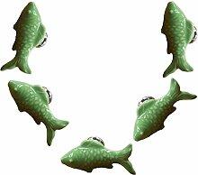 FBSHOP(TM) 5PCS Grün Nette Fisch Form Keramik