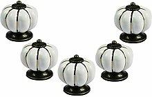 FBSHOP(TM) 5PCS Weiß Küche Pumpkins Griffe Ziehen Schubladenknöpfe Zink Keramik Türschränke Schrank-Tür Tür Knopf Küche Türgriff Möbelknopf Pull Hardware