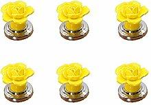 FBSHOP (TM) 6 x gelbe Vintage Floral Rose Form