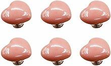 FBSHOP(TM) 6PCS 50mm Rosa Cute Heart Shape