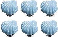 FBSHOP(TM) 6Pcs Blaue Serie Keramik Knöpfe, Baby