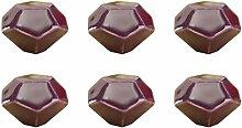 FBSHOP(TM) 6PCS Lila Turtle Shell-shaped Keramik