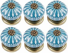 FBSHOP(TM) 6pcs Runde Möbel Knöpfe Keramik