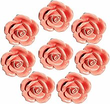 FBSHOP(TM) 8 Stück Rosa Vintage Floral Rose Form