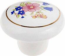 FBSHOP(TM) 8 Stück Runde Keramik-Türknauf