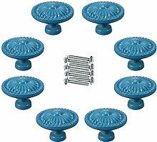 FBSHOP(TM) 8PCS Blau Möbelgriffe Vintage