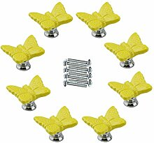 FBSHOP(TM) 8pcs Gelb Netter Schmetterling