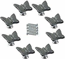 FBSHOP(TM) 8pcs Grau Netter Schmetterling