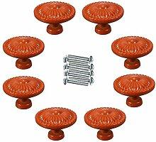 FBSHOP(TM) 8PCS Orange Möbelgriffe Vintage
