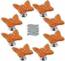 FBSHOP(TM) 8pcs Orange Netter Schmetterling