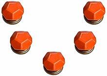 FBSHOP(TM) Orange Turtle Shell-shaped Türknauf