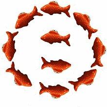 FBSHOP(TM) Retro Fisch Keramik Türknauf