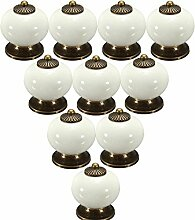 FBSHOP(TM) Weiß 10PCS Neu Europa Stil Keramik