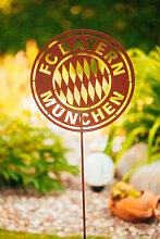 FC Bayern Edelrost Gartenstecker
